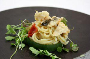 旬の料理8月:鱧のパスタ